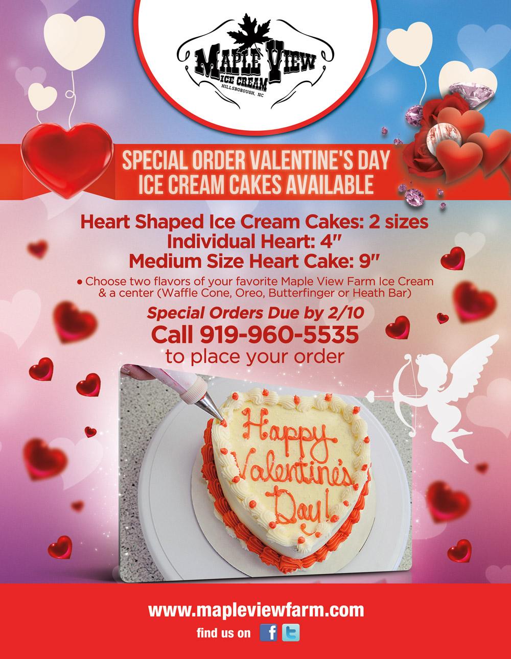 Heart Cake Flyer Valentine Gift Card